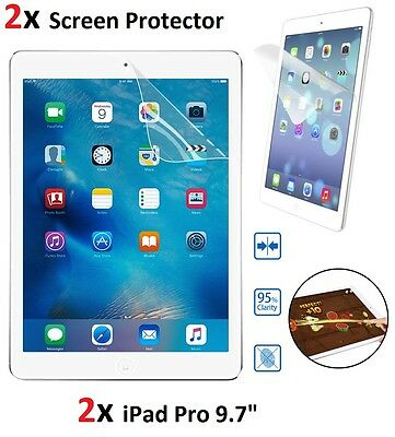 """2X Anti Scratch Ultra HD Clear Screen Protector Guard for iPad Pro 9.7"""" Inches"""