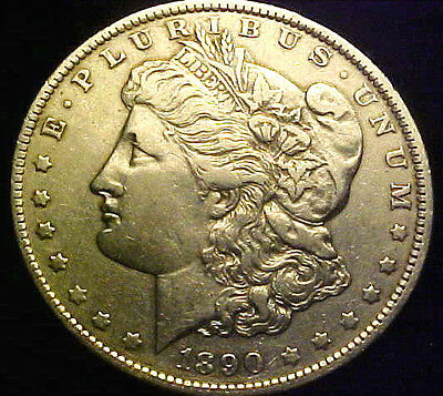 1890-O Morgan Silver Dollar ~  AU DETAILS ~ NICE BETTER DATE COIN!!! MH18