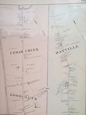 Original Not Repro Bayville Cedar Creek NJ Good Luck HC Woolman 11.25x13 7/8