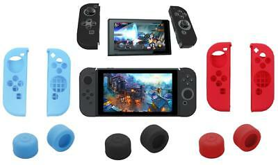 iProtect 4in1 Set Nintendo Switch Silikon Hülle Joy-Con+ Controller Grip Aufsatz