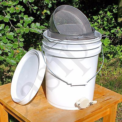 Honey Settling Tank 20 Litre Double Stainless Steel Strainer Valve Beekeepers