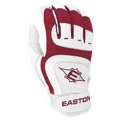 1 Pair Easton SV12 Pro Large Cardinal Youth Leather Batting Gloves New!