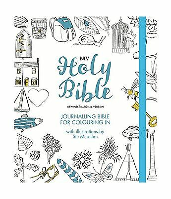 NIV Journalling Bible for Colouring In: With unlined margins and illustration...