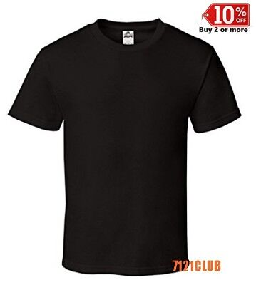 LOT 6 PACK ALSTYLE APPAREL AAA T SHIRT BLACK 1301 Mens Plain Short Sleeves S-5XL