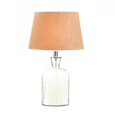 Hammered Texture Glass Jug Lamp Antique Accent Living Room BedsideTables Desktop