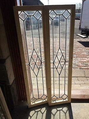 Sg 1360 2Available Price Separate Antiqueleaded Glass Window 11.5 X 48.125