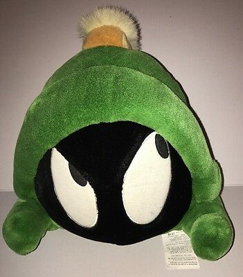 """Looney Toons Large Marvin The Martian Head Plush Warner Bros 12"""""""