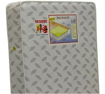 Dream On Me 132 Premium Coil Inner Spring Standard Crib and Toddler Mattress