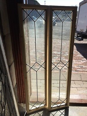 Sg 1365 2Available Price Each Transom Window Leaded Glass 11.5 X 48.5