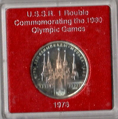 1978 USSR Commemorating the 1980 Olympic Games 1 Rouble CCCP Proof Like Coin BU
