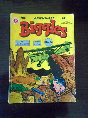 LOOK: ORIGINAL ADVENTURES OF BIGGLES No.5 -  VERY RARE EARLY 68 PAGE COMIC