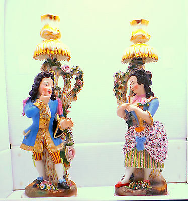 Antique Jacob Petit French Candelabra Porcelain 19th Century