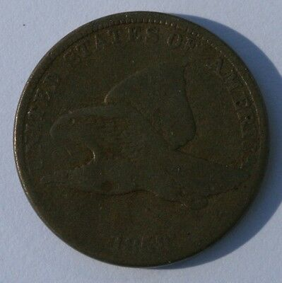 1858 1C Flying Eagle Cent About Good Condition US Coin