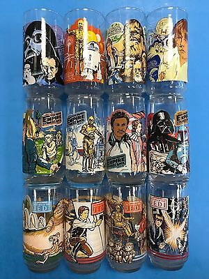 * Vintage Star Wars Burger King Glasses Set of 12 Empire Strikes Back ROTJ