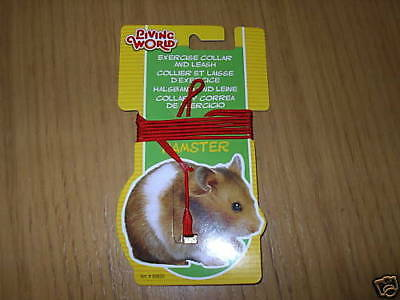 Living World Hamster Exercise Collar & Lead - Hagen