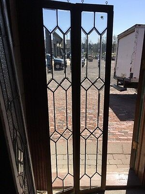 Sg 1374 2 Available Priced Each All Beveled Glass Transom 12 X 64