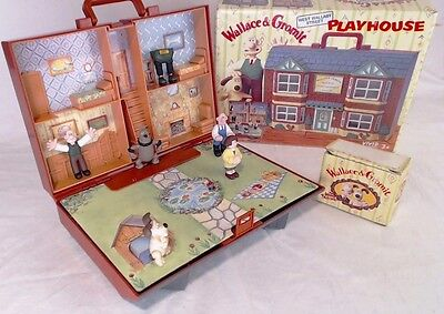 Wallace And Gromit Wash 'N' Go Playset Carry House With 6 Figures 1989 Vintage