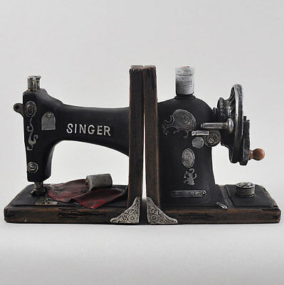 Old Fashioned Singer Sewing Machine Bookends.Sculpture / Figurine.New