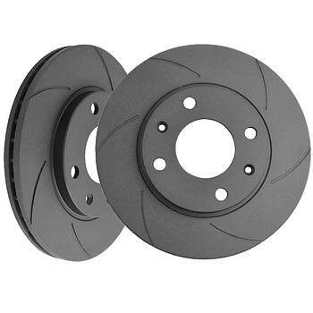 Black Diamond 6 Groove G6 Solid Front Brake Discs Autobianchi A112 1.0 Abarth
