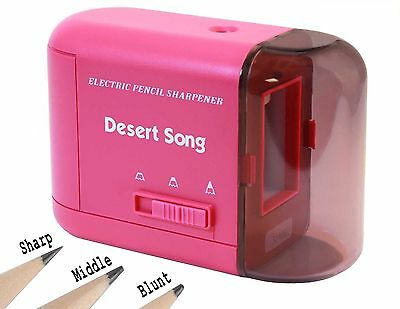 New Electric Pencil Sharpener Heavy Duty for Office/School/Home + Power Adapter