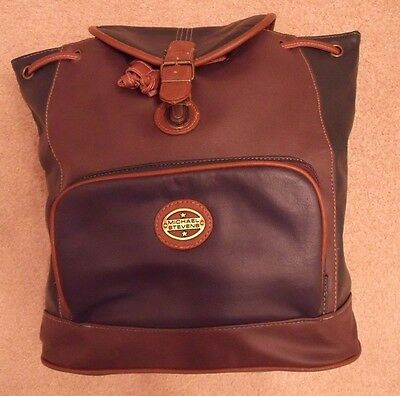 Michael Stevens Women's Synthetic Leather Backpack Purse Bag Travel Bag Fashion