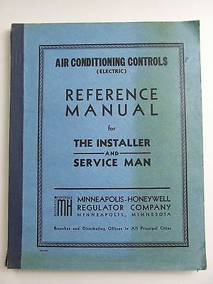 1940s Minneapolis Honeywell Air Conditioning Controls Reference Service Manual