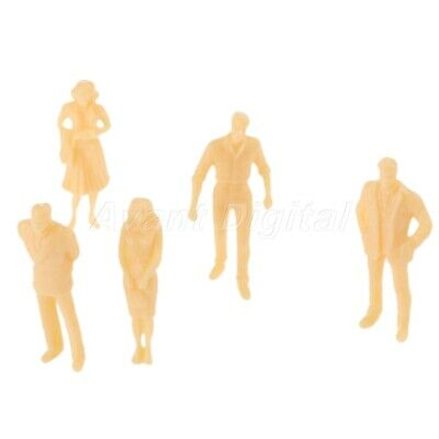 20pcs Vivid Model Seated People Model Skin Colored Building Scenery Scale 1:50
