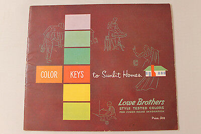 Vintage 1950's Lowe Brothers Paints Color Keys to Sunlit Homes Booklet