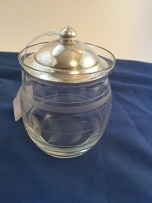 Glass Jam Jar With Sterling Lid
