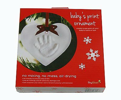 Tiny Ideas Baby's Print Christmas Ornament No Mixing, No Mess, Air Drying Bnib