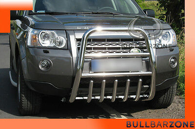 !!!+!land Rover Freelander 2 Tubo Protezione Alto Bull Bar Inox Stainless Steel