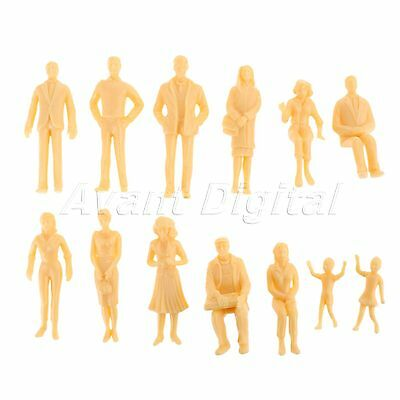 20pcs Model Train Railway for Layout 1:25 Scale Figures People Assorted Poses