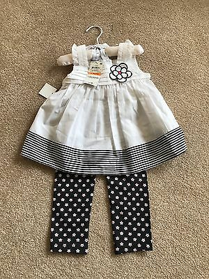 First Impressions baby girl dress 2 pcs. set. size 12 Months