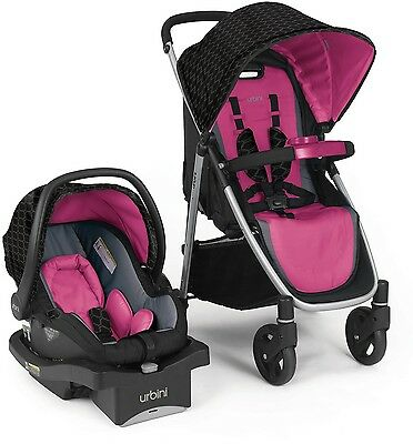 Urbini Turni Infant Baby Girl Safety Car Seat Stroller Travel System 4-35 lbs.