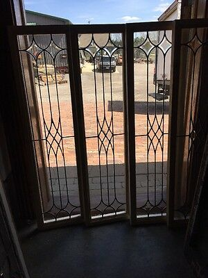 Sg 1378 4Available Price Separate Beveled And Leaded  Glass Window 14 X 44.25
