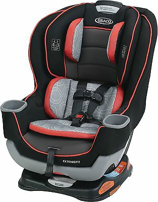 Graco Extend2Fit Convertible Infant Baby Toddler Child Safety Car Seat, Solar