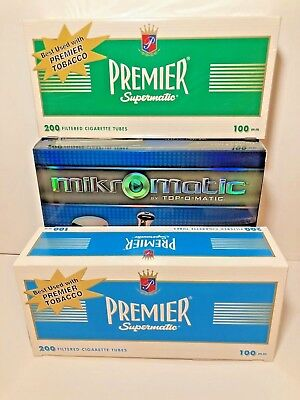 Mikromatic By Top-O-Matic King Size Cigarette Machine+FREE Gambler tube&Lighters