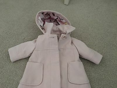 Next Girls Coat Age 3-6 Months