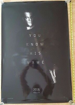 BOURNE YOU KNOW HIS NAME Double Sided Authentic Movie Poster 27x40