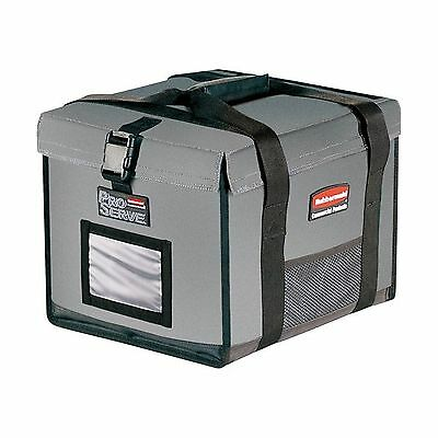 Rubbermaid Commercial Insulated Half-Size Food Pan Carrier Gray FG9F1500C... New