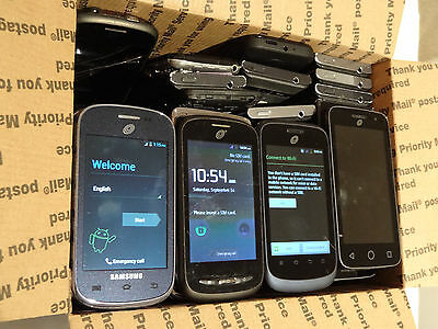 Lot of 50 TracFone Smartphones & Cell Phones Mixed Models Most Power On AS-IS *