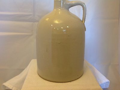 Vintage Jug Pottery Antique Whiskey Moonshine Vessel Stoneware Beige Jug