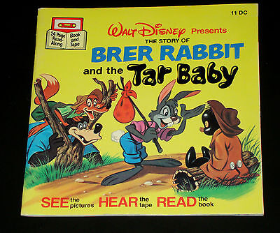 Vintage DISNEY BRER RABBIT and TAR BABY book only SONG SOUTH Uncle Remus