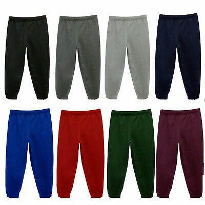 Childrens Kids Boys Girls School PE Fleece Jogging Bottoms Trousers 2-20 years