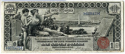 1896 $1 Silver Certificate Educational Note Large Size - Currency - JX150