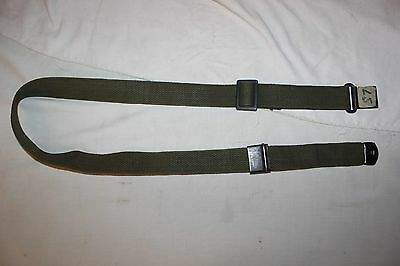US Military Issue M1 Garand Rifle Sling Green Canvas Web Sling MRT Vintage NOA11