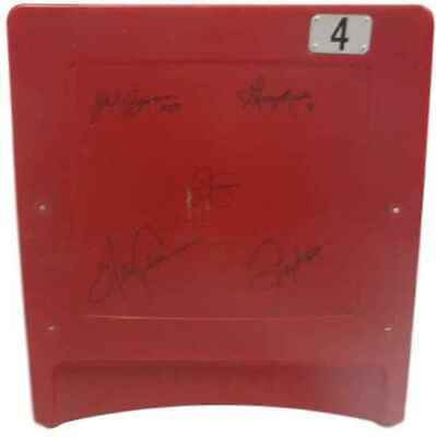 1986 New York Giants Red Stadium Seat Back 5 Sigs 14549 Steiner
