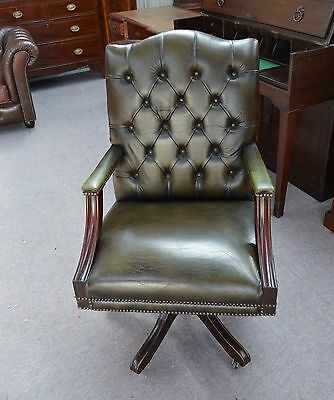vintage leather desk chair chesterfield desk chair