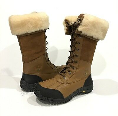 adfb987ca52 UGG ADIRONDACK TALL 5498 Winter Boots Waterproof Brown Leather Us Size 8  -New