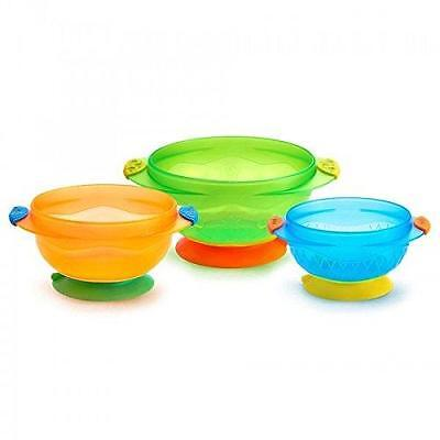 Suction Cup Bowls Munchkin Stay Put Bowl 3 Count Baby Toddlers REDUCE SPILLS